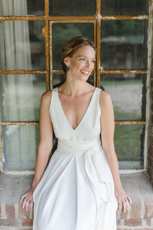 Brautkleid breiter Gürtel modern