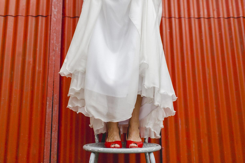 Brautkleid Köln mit locker fallenden Röcken