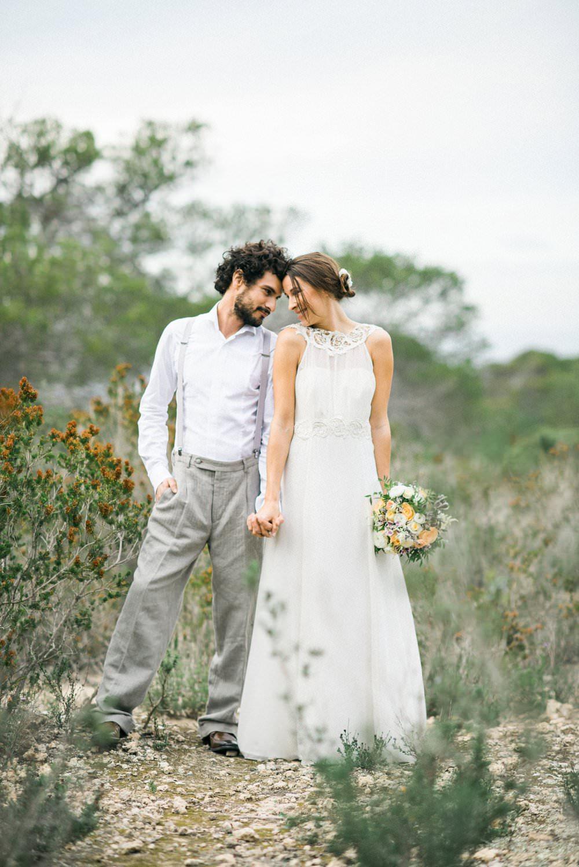 Brautkleid mit wenig Spitze