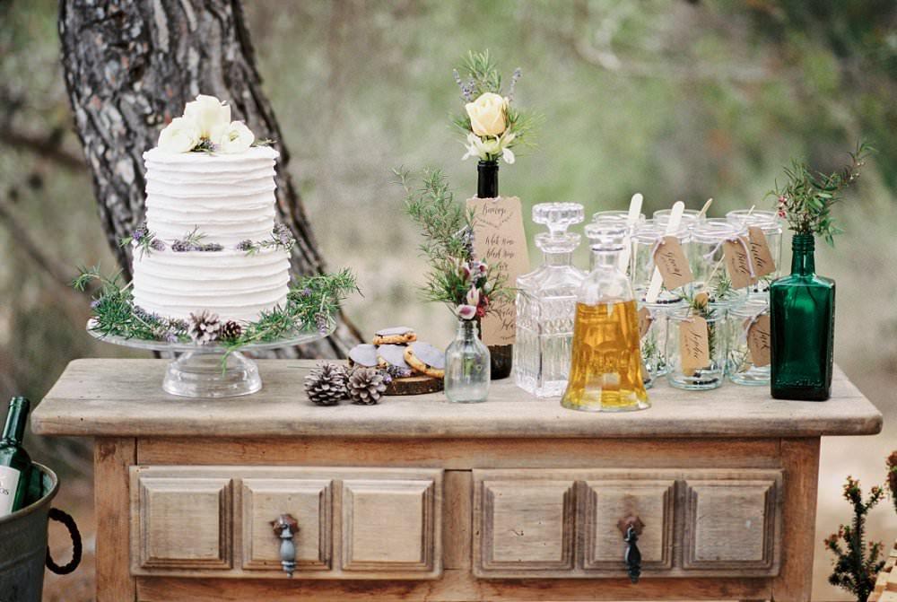 Mediterrane Hochzeit Bar für die Gäste