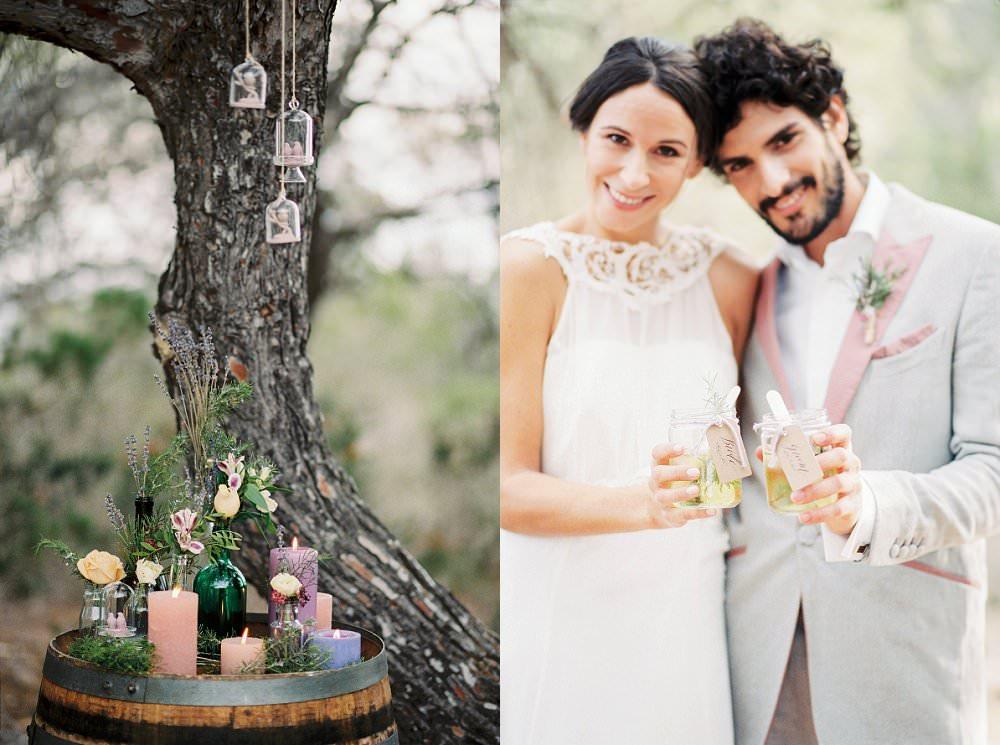 Brautkleid für eine mediterrane Hochzeit im Göttinnen-Stil