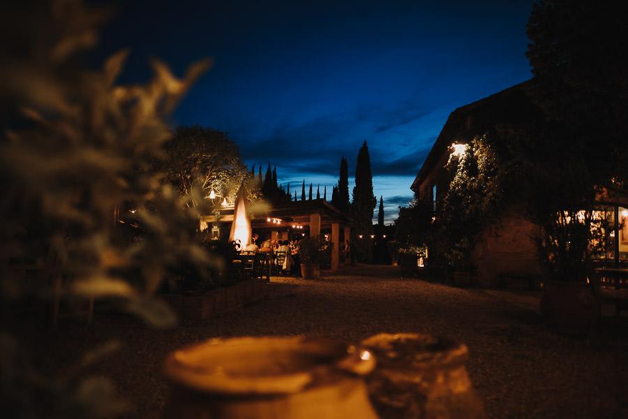 Hochzeitslocation Toskana abends