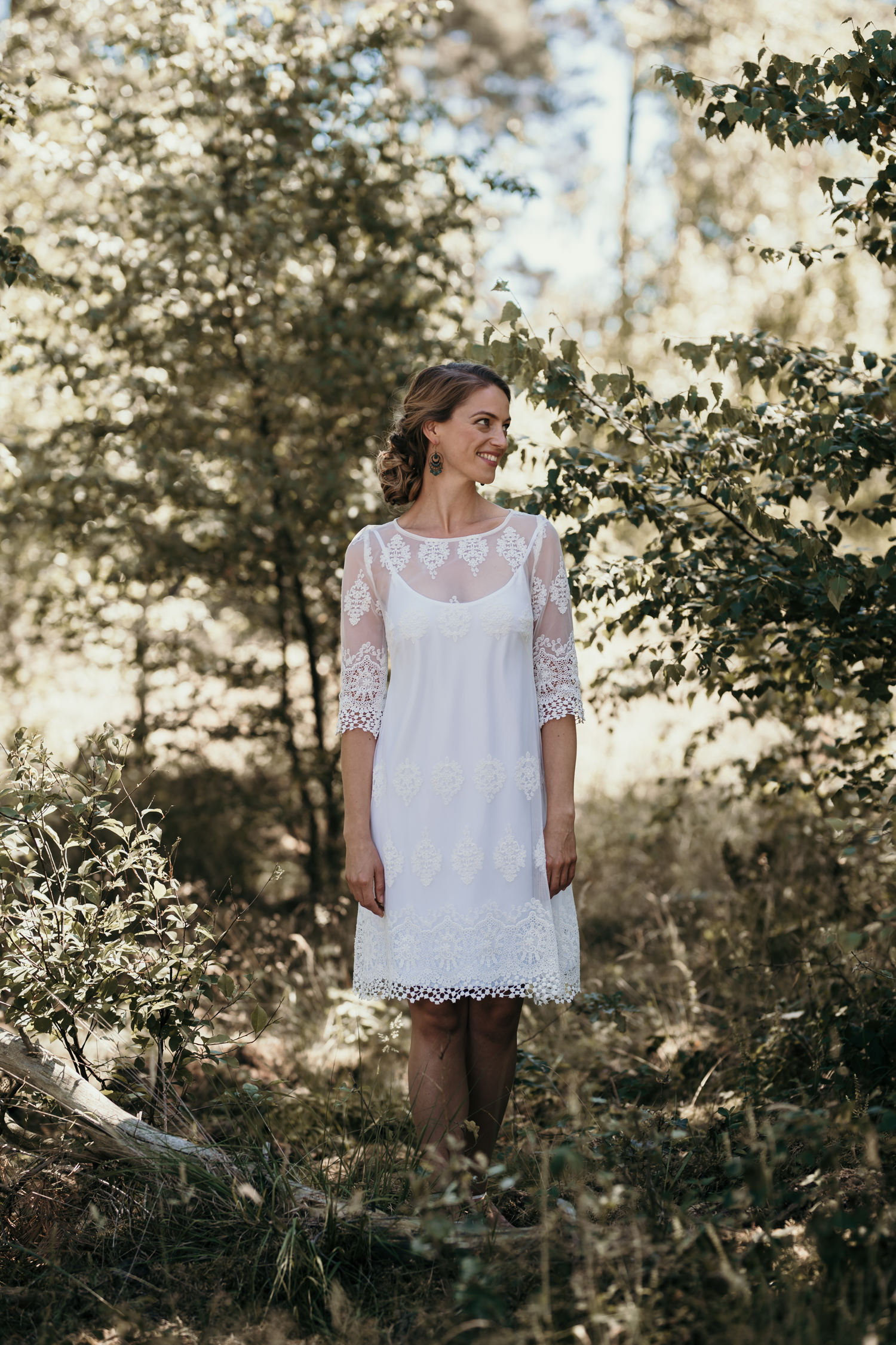 Kleid standesamt braut kurz