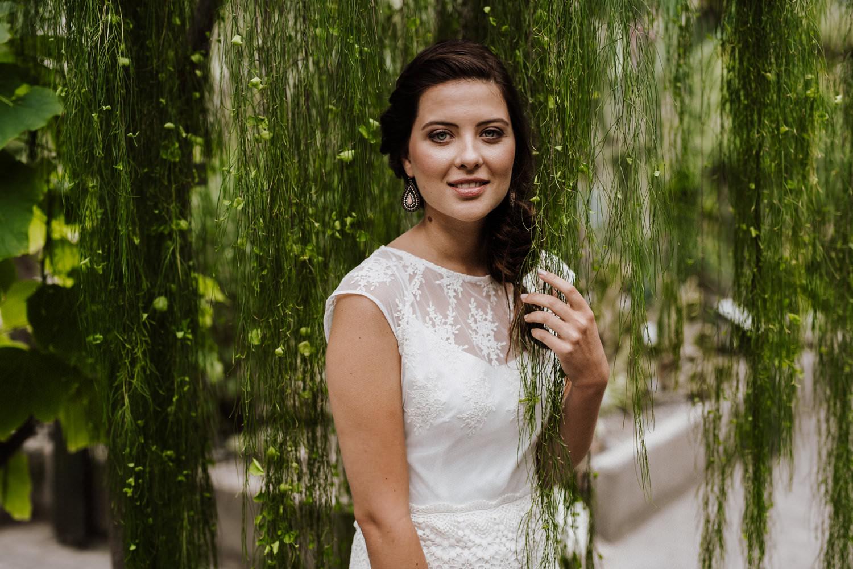 Hochzeitskleid vegan mit Boho-Spitze von Claudia Heller