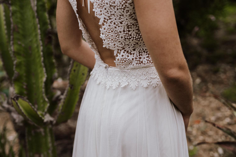 Veganes Hochzeitskleid von Claudia Heller aus Köln