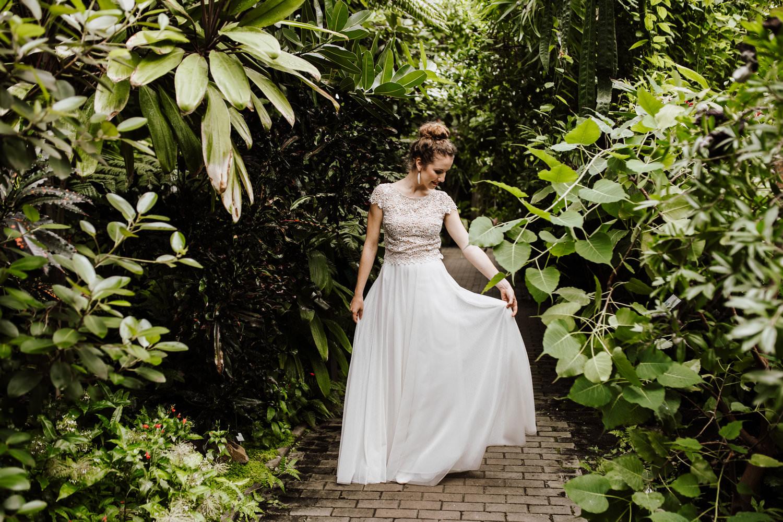 Veganes Brautkleid mit Tüllrock aus Köln