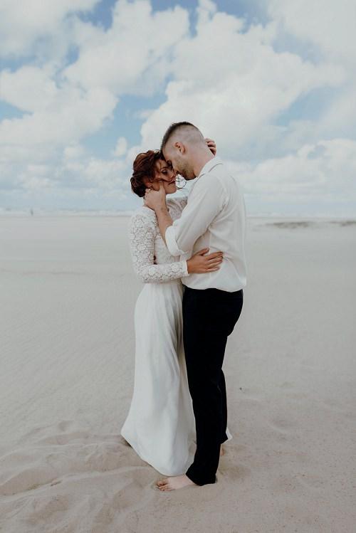 Hochzeitskleid lang Strandhochzeit l von Claudia Heller Modedesign