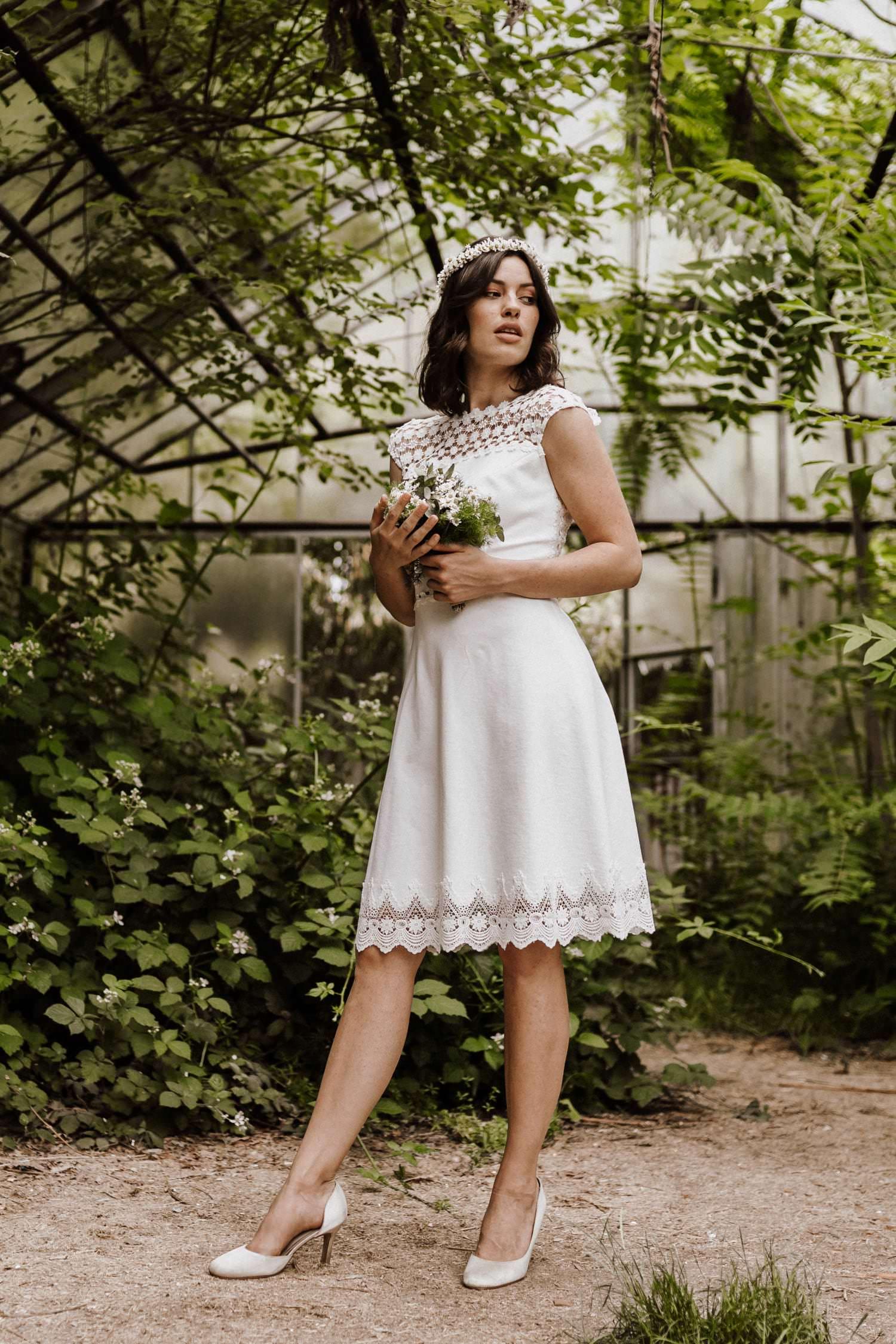 info for d5d67 a821c Daria - Hochzeitskleid Standesamt kurz - Claudia Heller