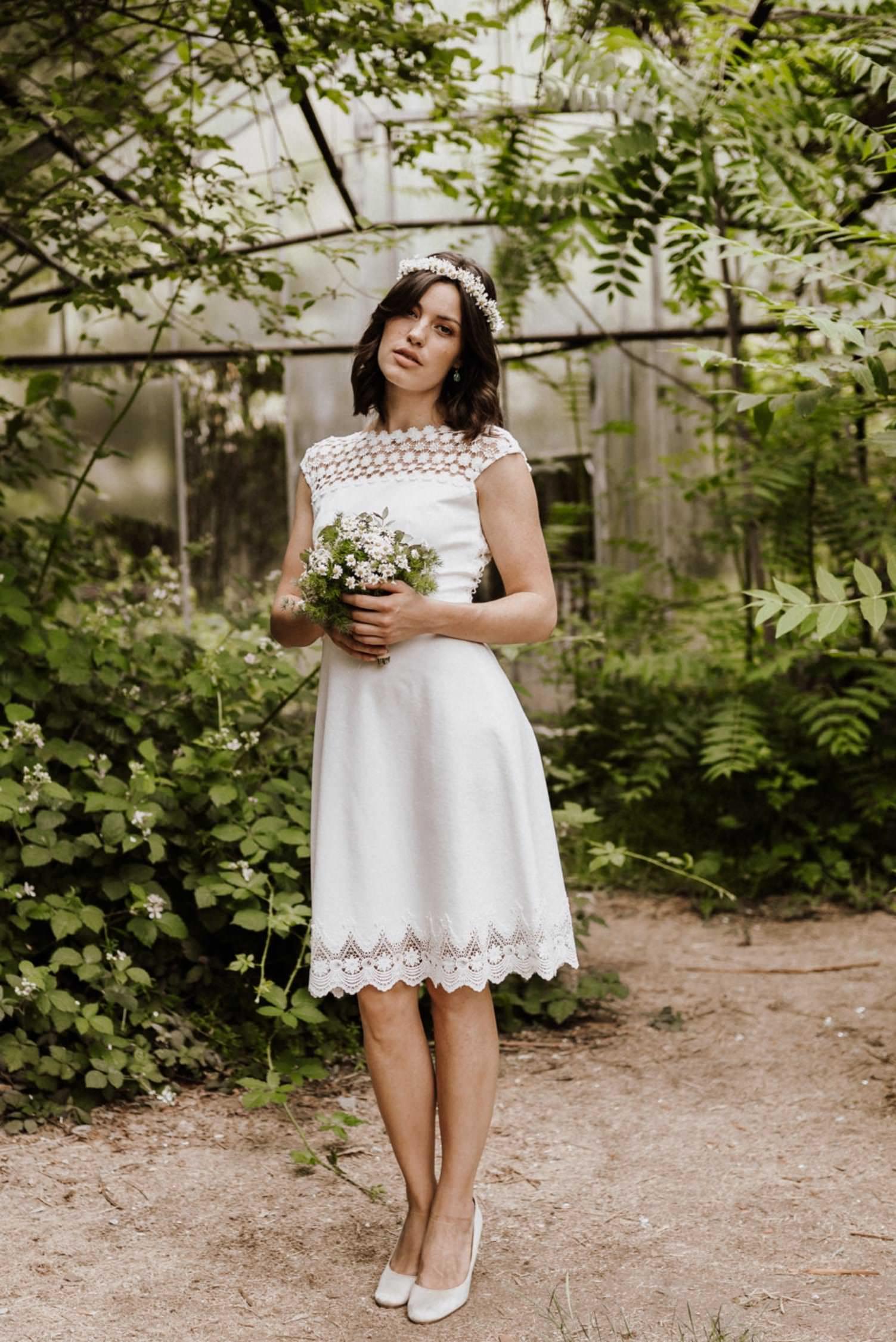 Daria - Hochzeitskleid Standesamt kurz - Claudia Heller
