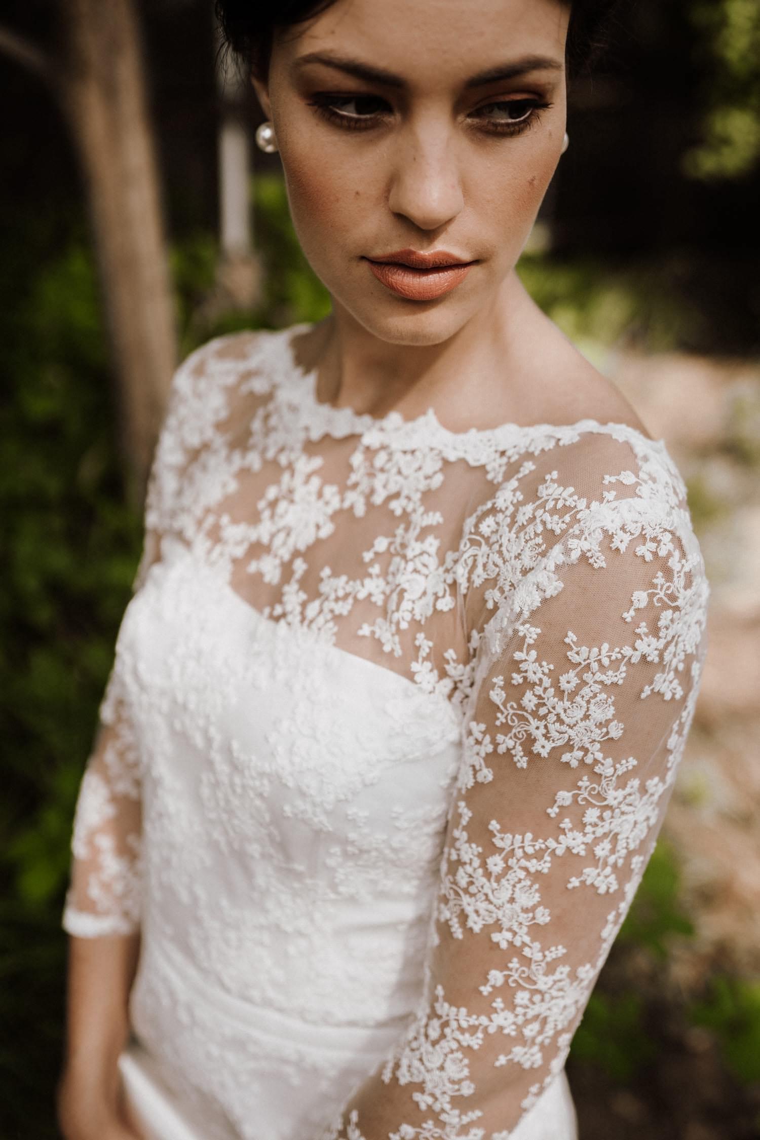Theresa Hochzeitskleid Kurz Vintage Mit Spitze Claudia Heller