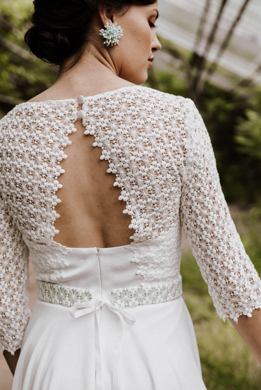 Brautkleid-kurz-Ärmel-Macrame