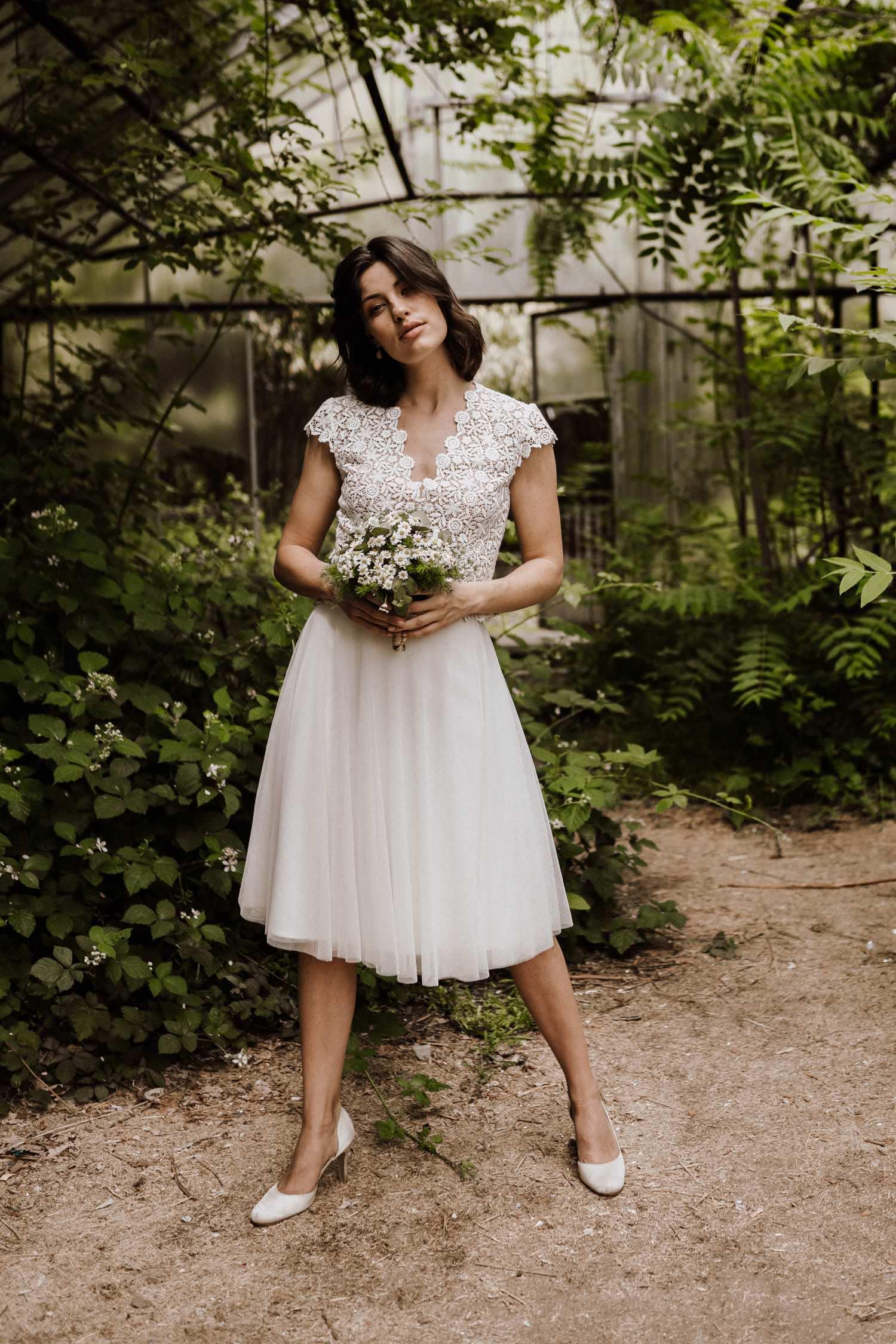 Brautkleid-kurz-Tüll-Zweiteiler