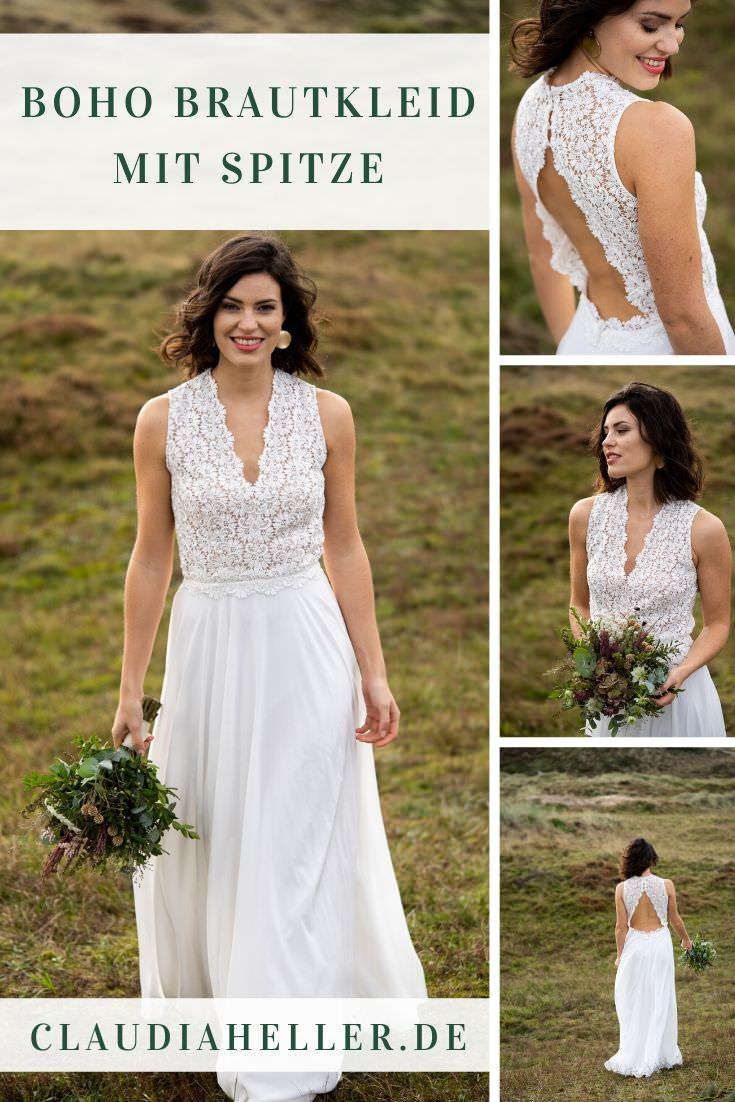 Hochzeitskleid Boho: mit Spitze 2020