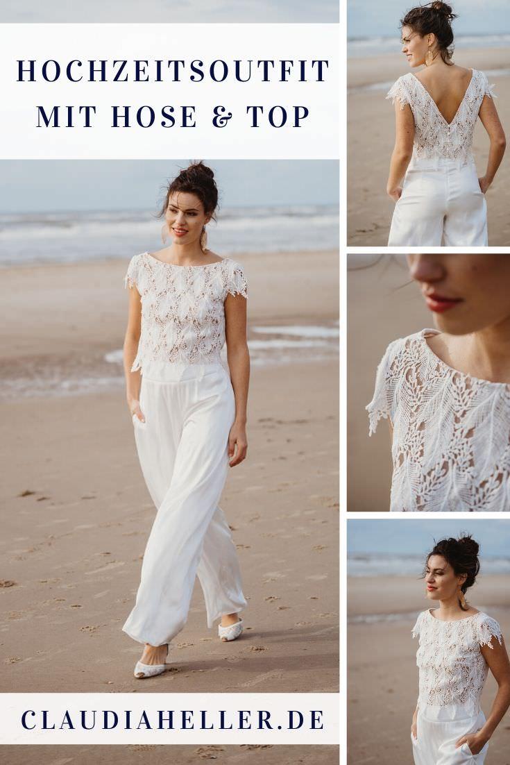 Brautkleid-Alternative: lässige Hose und Top