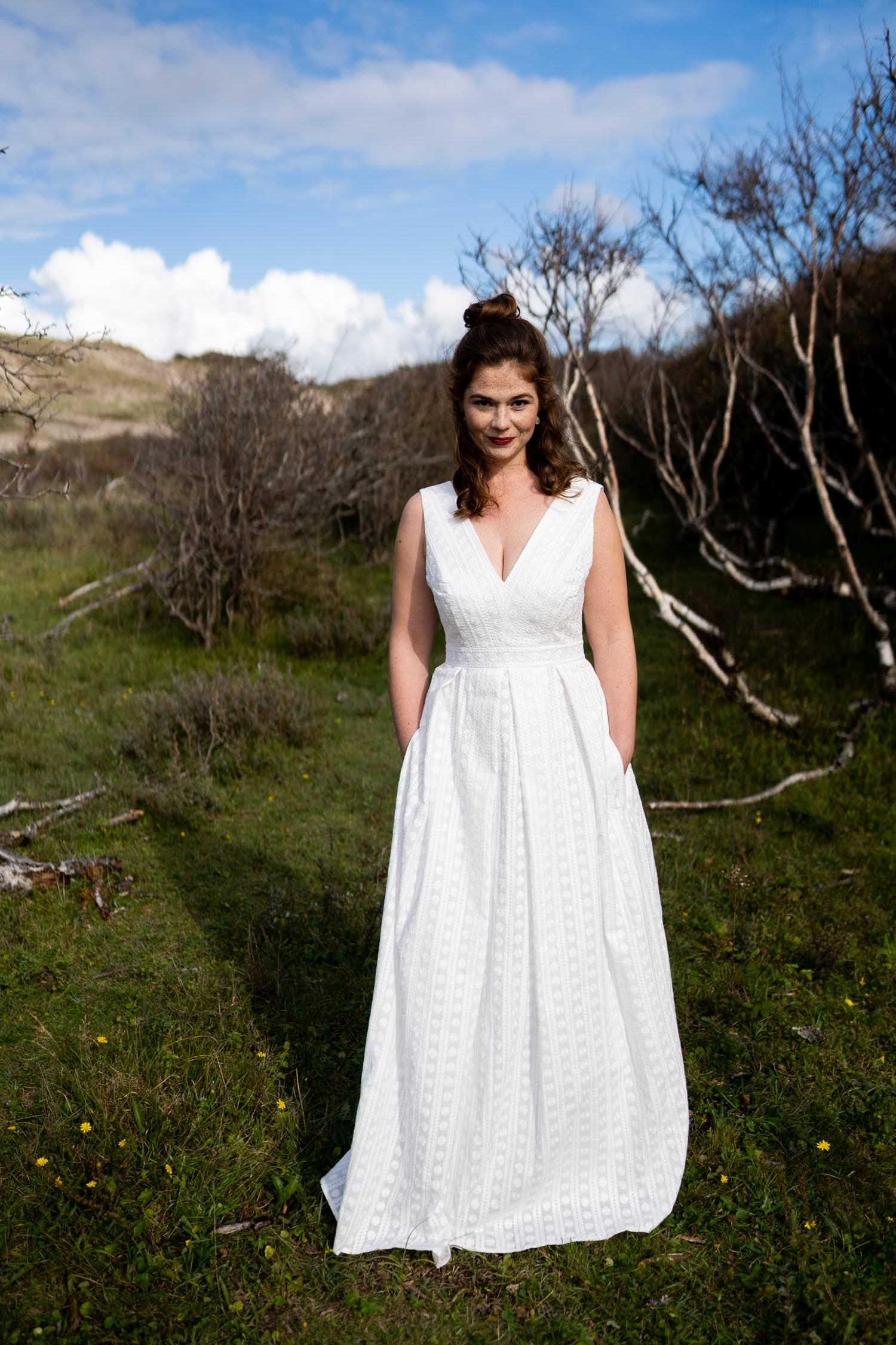 Brautkleid mit Taschen aus Baumwolle - Celia - Claudia Heller