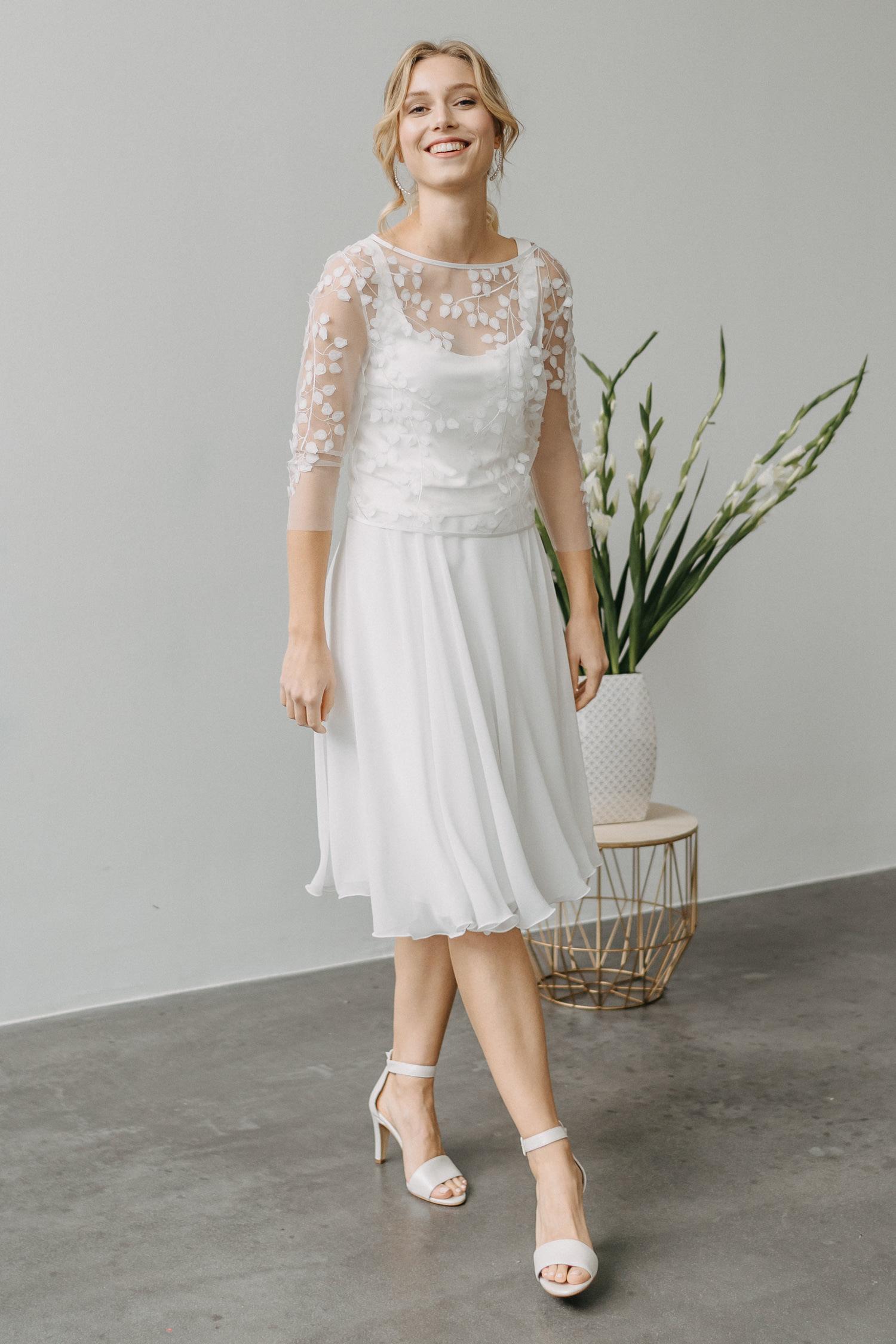 kurzes Brautkleid fürs Standesamt