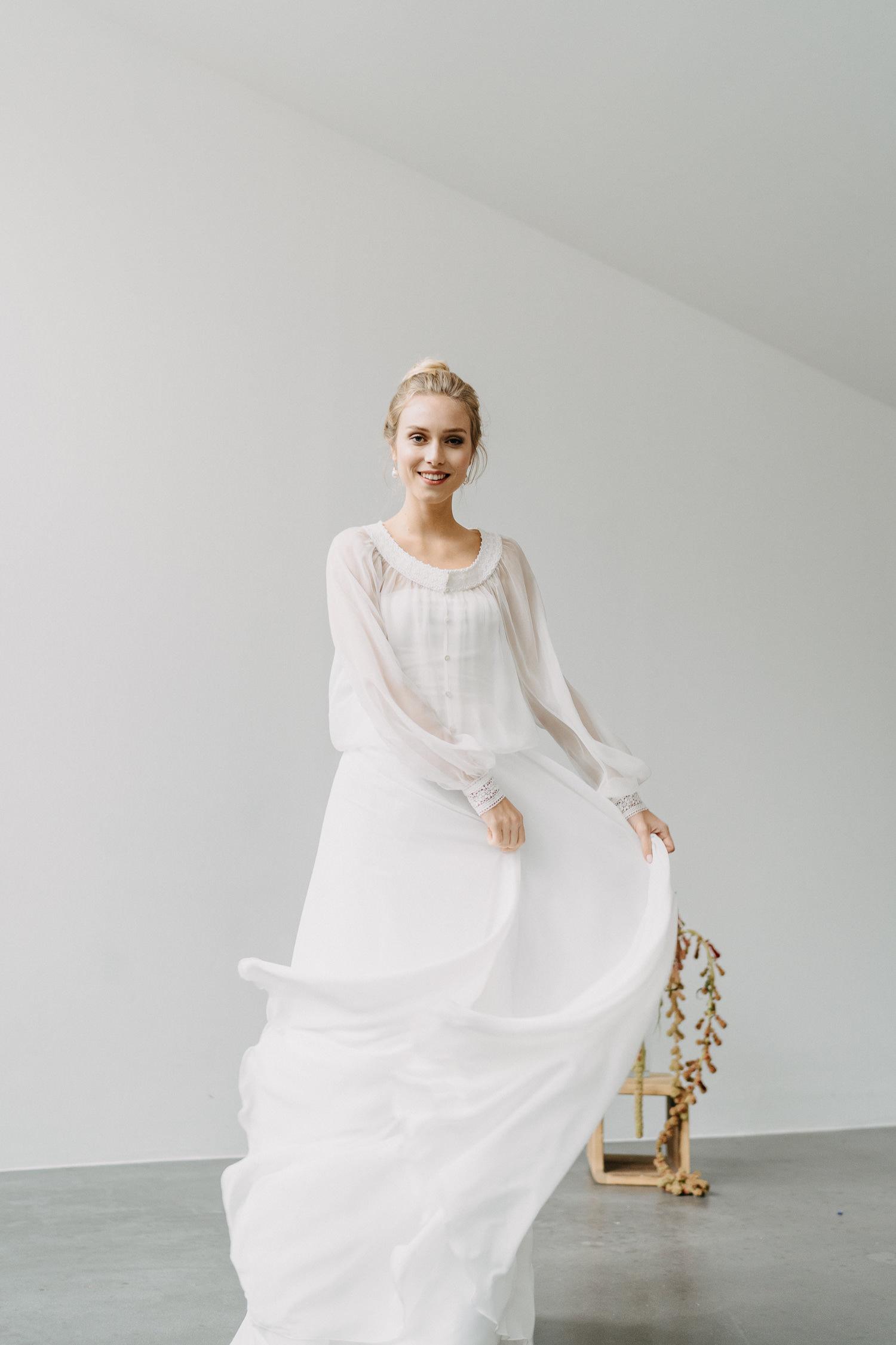 Braut Zweiteiler mit Seidenbluse