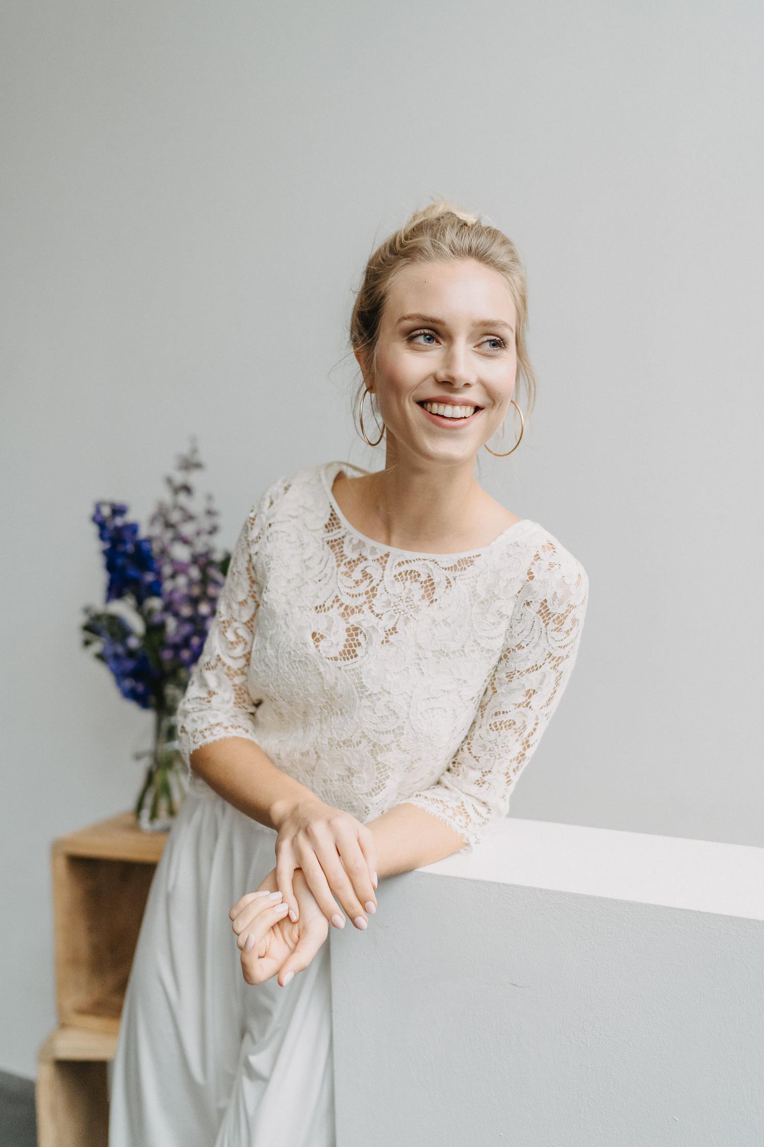 Braut Jumpsuit in weiss