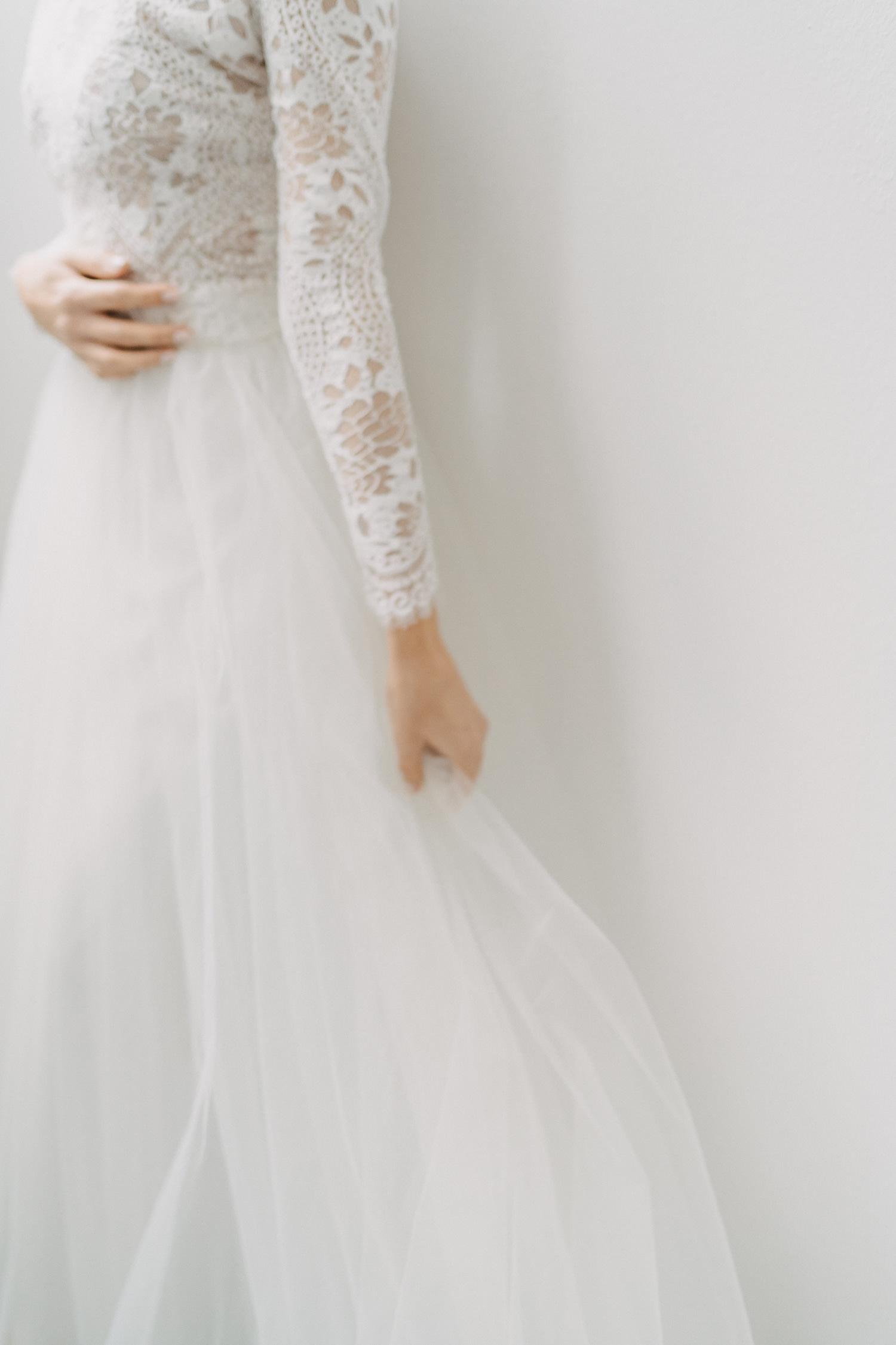 Braut Zweiteiler Tüllrock weit