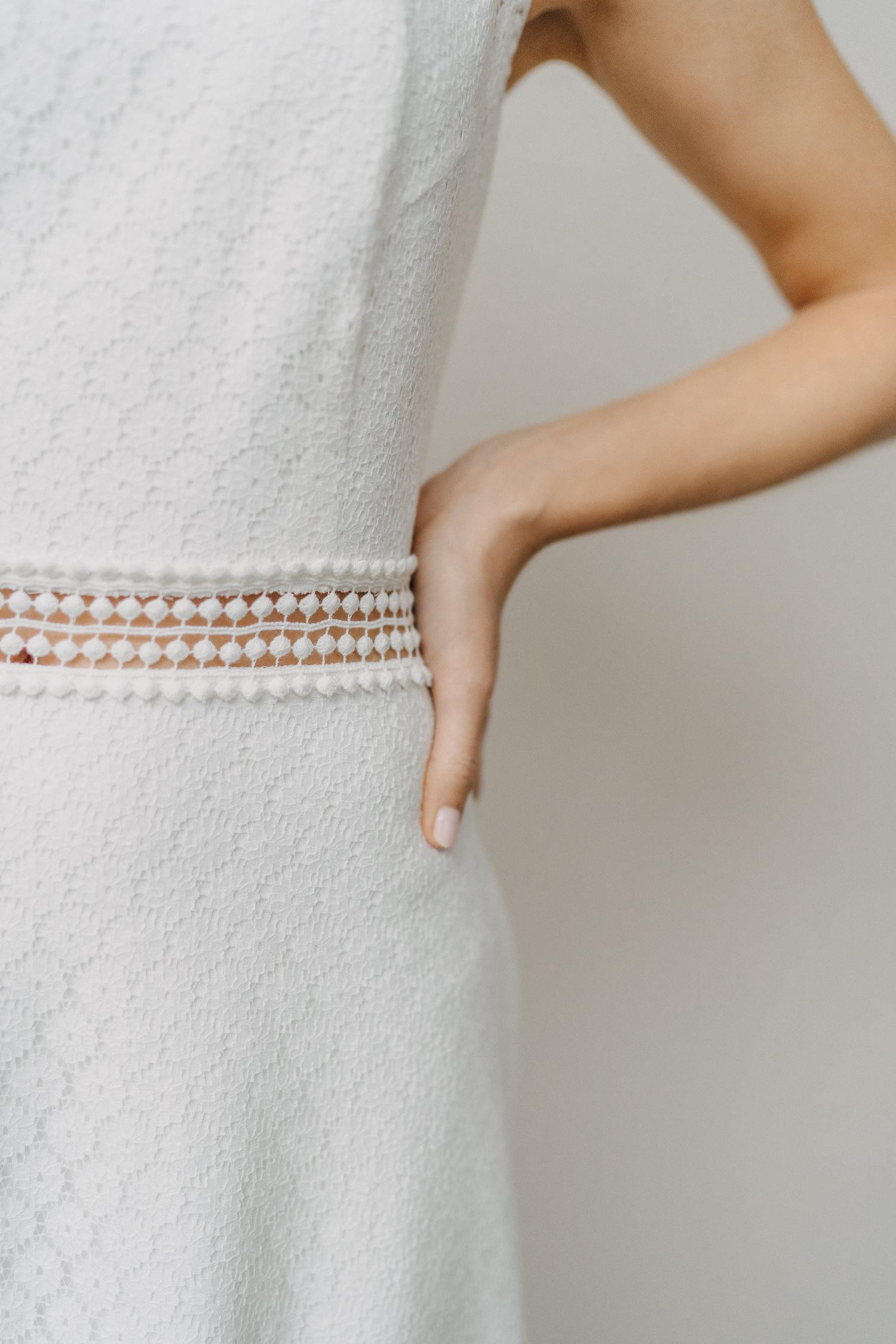 Brautkleid Olivia mit Borte in der Taille