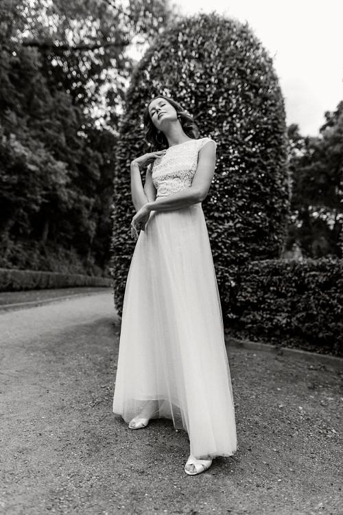 Urbanes, leichtes Hochzeitskleid Meredia von Claudia Heller Brautmode Köln