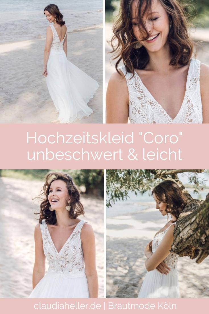 Leichtes Hochzeitskleid Coro für eine unbeschwerte Hochzeit | von Claudia Heller Brautmode Köln