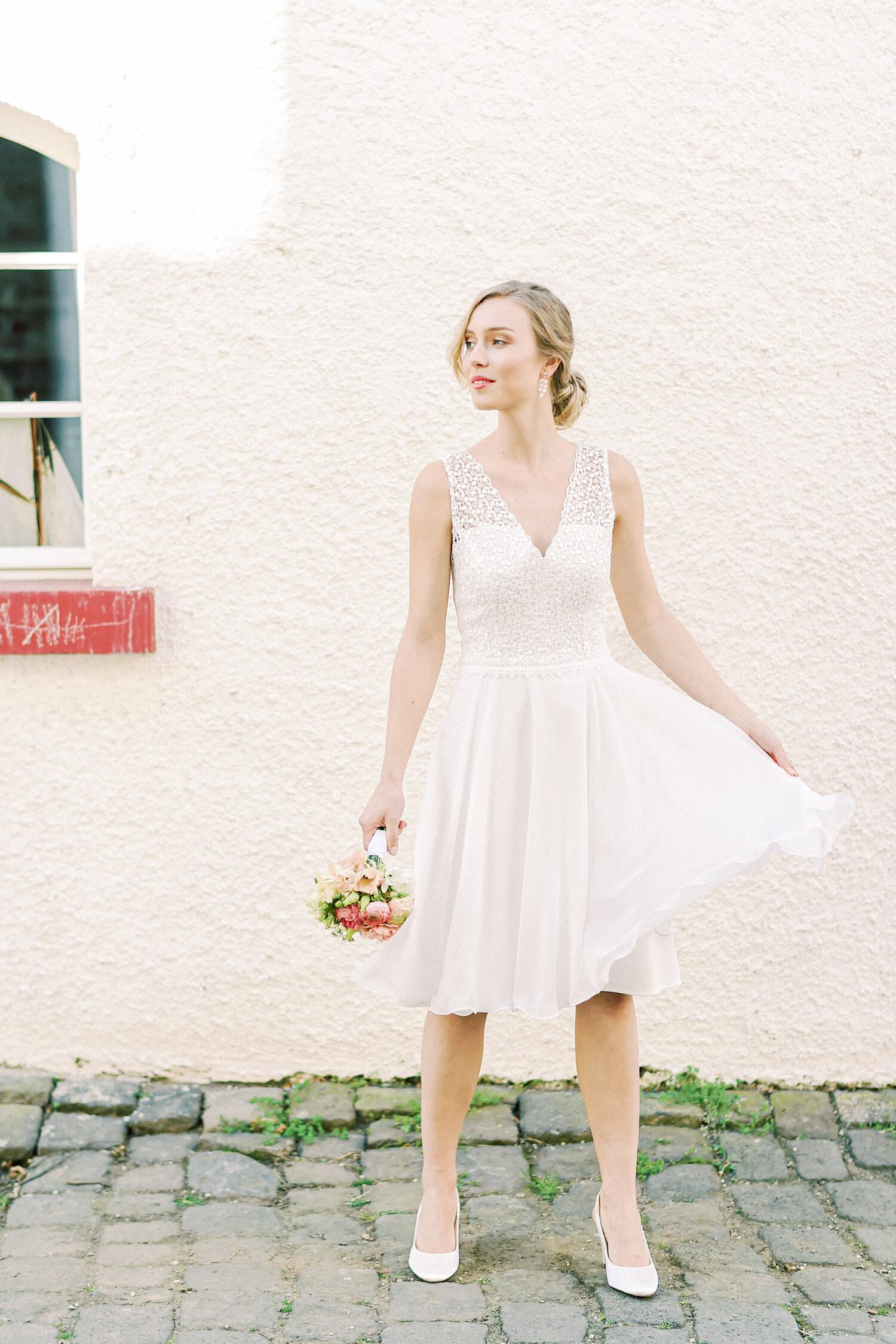 Kurzes Brautkleid Amalia